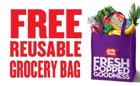 Free reusable grocery bag