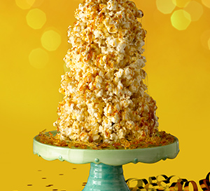 JOLLY TIME 100th Birthday Popcorn Ball Crunch Cake