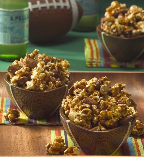 Caramel Almond Popcorn Clusters Recipe