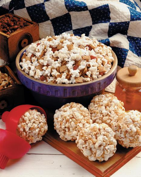 Fruit & Nut Popcorn Chex Party Mix Recipe