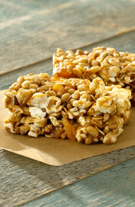 Popcorn Bar Recipes Caramel Popcorn Power Bars