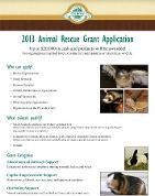 2013 Oxbow Rescue Grant Application