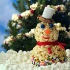 Holiday Popcorn Snowman