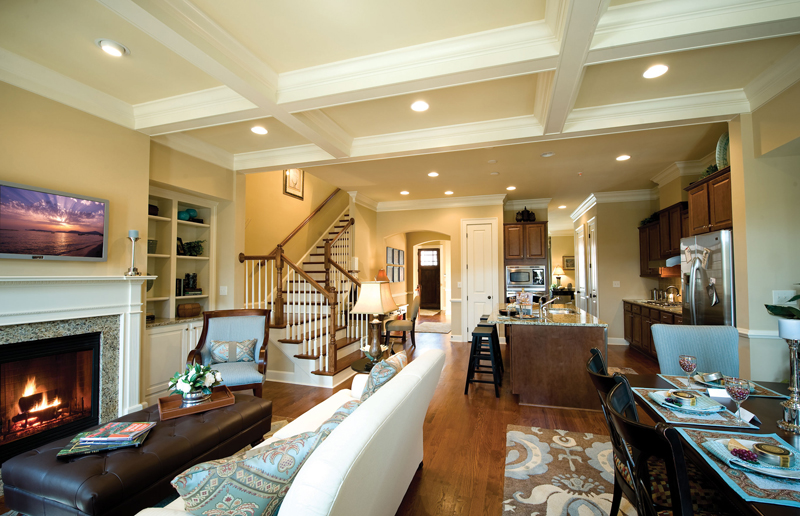 Distinguished living space with wood burning fireplaces in Atlanta, GA